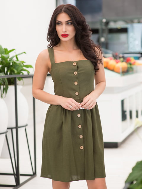 Сукня кольору хакі ELFBERG 5081886