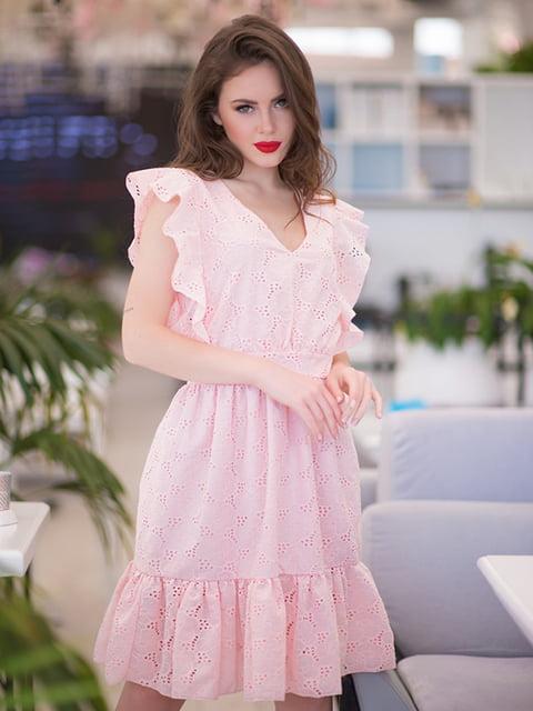 Сукня кольору пудри ELFBERG 5081901