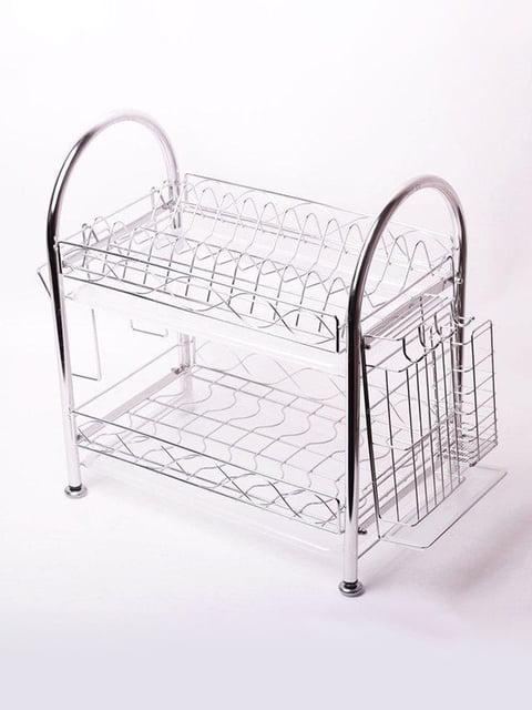 Сушарка для посуду 58(41)*25*47см з нержавіючої сталі Trendy 4356663