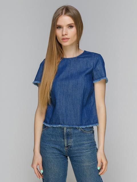 Блуза синяя джинсовая Stradivarius 4511259