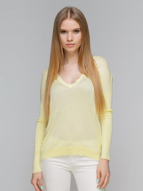 Пуловер лимонного цвета Stradivarius 4651679