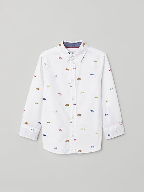 Сорочка біла в принт H&M 5073268