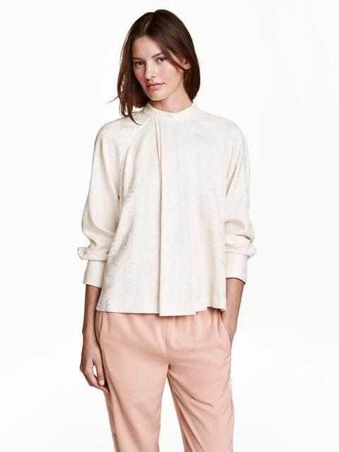 Блуза бежевая с принтом H&M 5072848