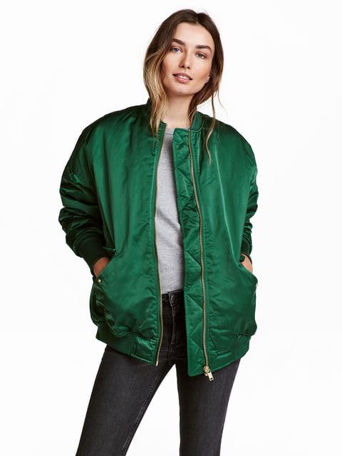 Бомбер зеленый H&M 5072875
