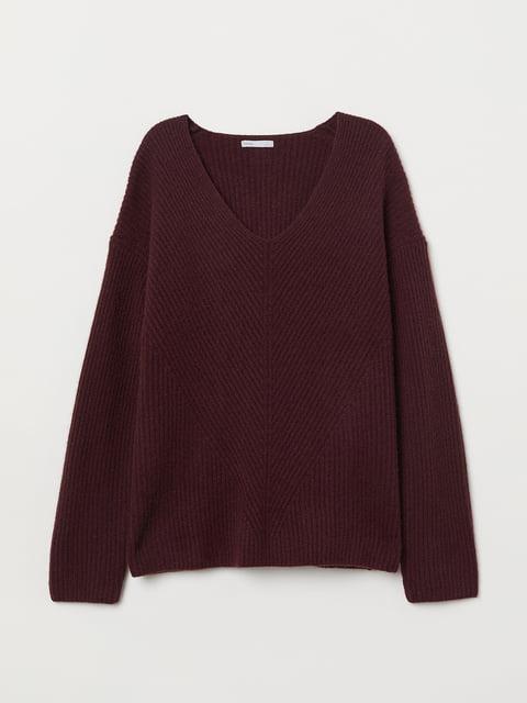 Пуловер бордовый H&M 5073315