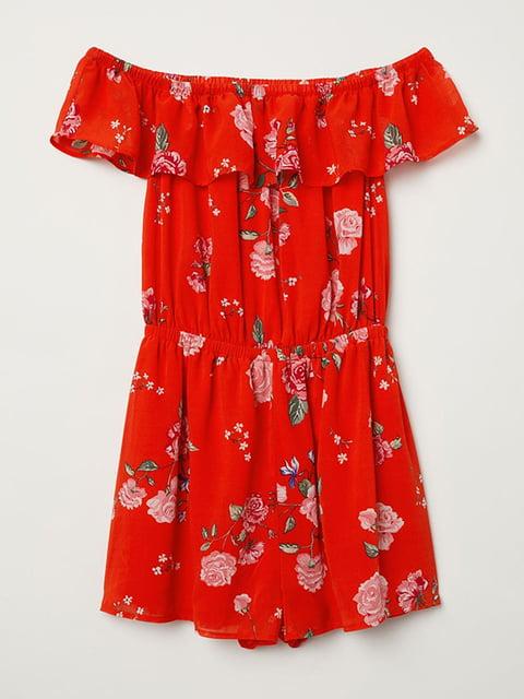 Комбинезон красный с цветочным принтом H&M 5093714