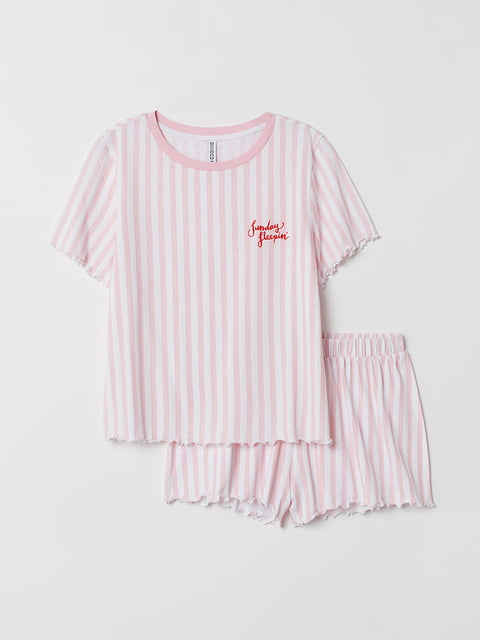 Пижама: футболка и шорты H&M 5093805