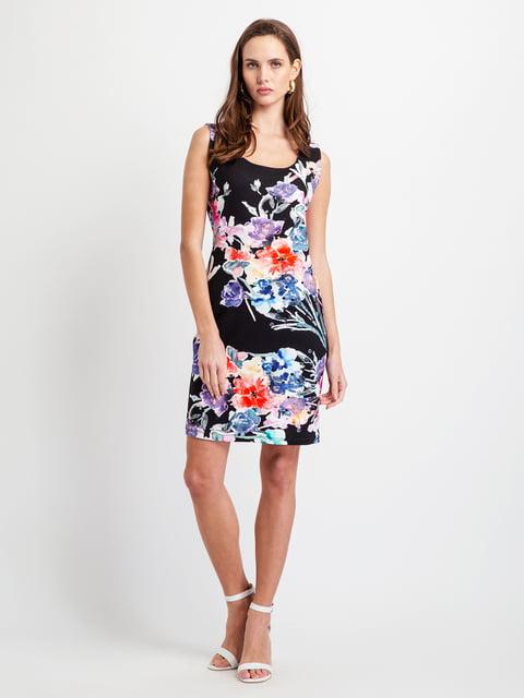 Сукня чорна у квітковий принт BGN 5096487