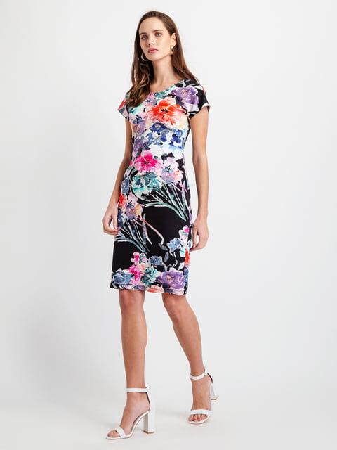 Сукня чорна у квітковий принт BGN 5096488