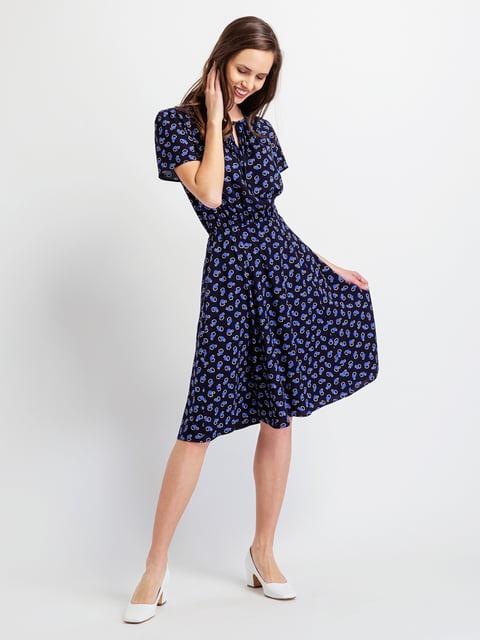 Сукня темно-синя в принт BGN 5096512