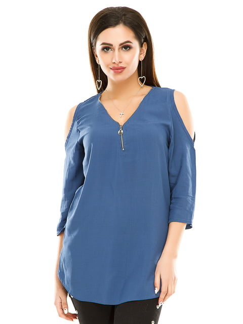 Блуза джинсового цвета Exclusive. 5099947