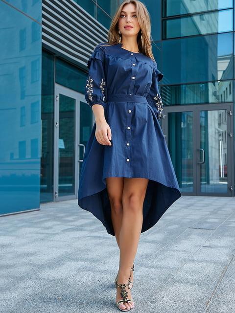 Платье темно-синее с вышивкой Seventeen 5100659