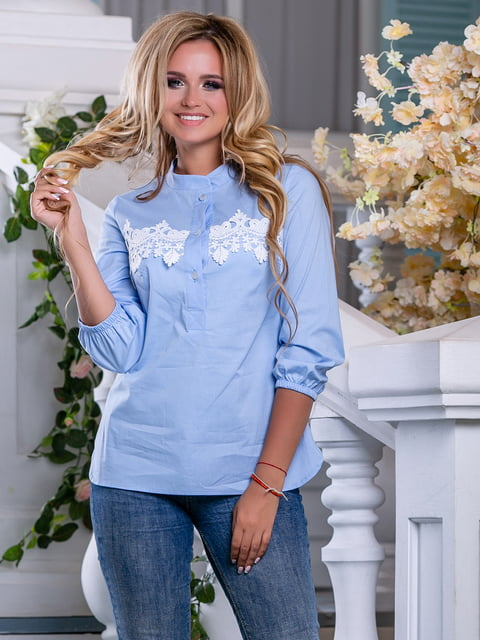 Рубашка голубая Seventeen 5100665
