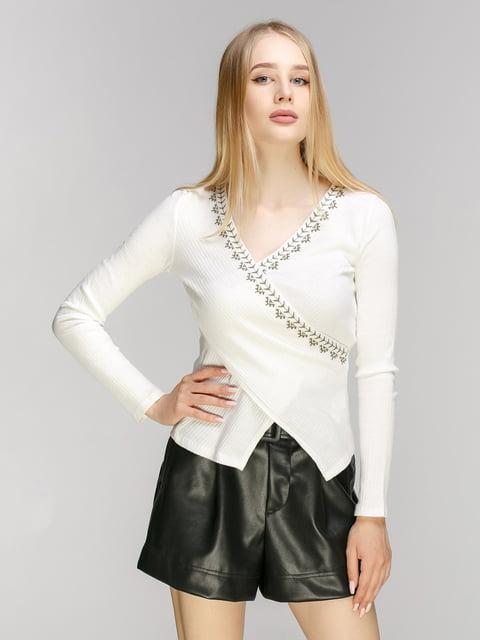 Пуловер білий Bershka 3222156