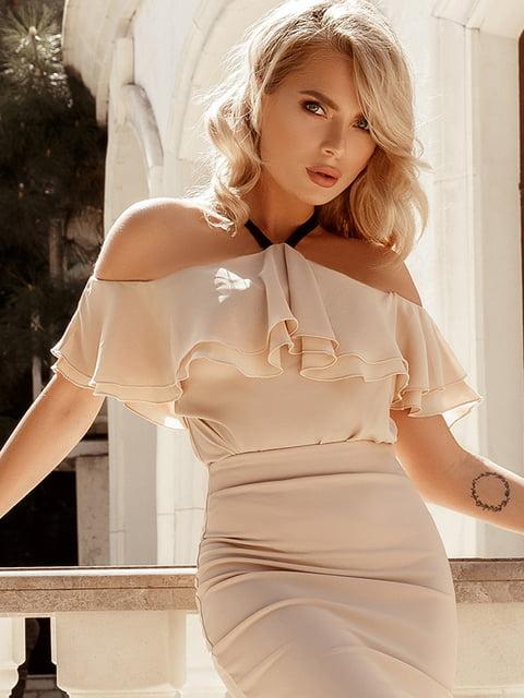 Блуза бежевая Gepur 5103471