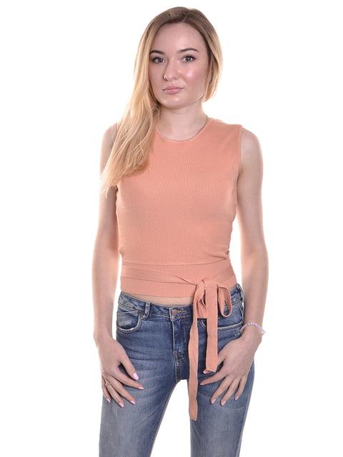 Топ персикового кольору Zara 4972414