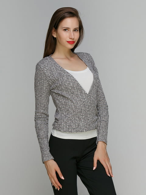 Пуловер серый Bershka 3222142