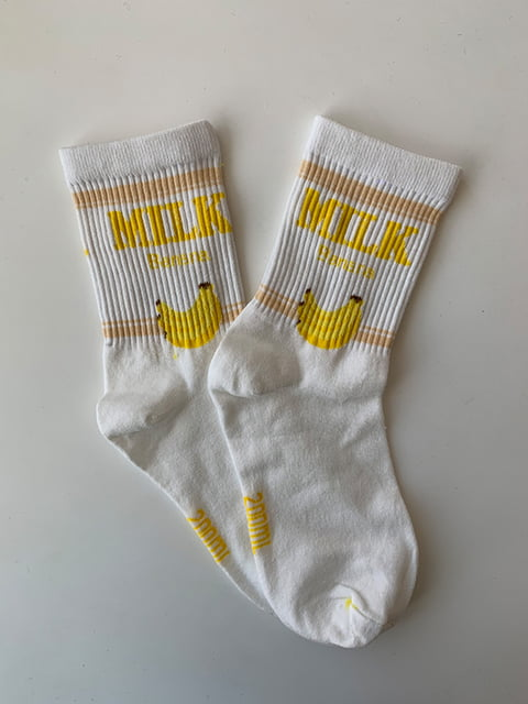 Шкарпетки білі з принтом Nettle 5106889