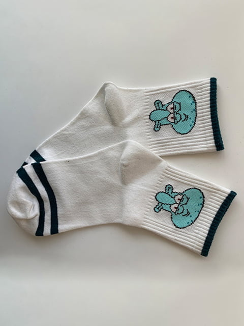 Шкарпетки білі з принтом Nettle 5106899