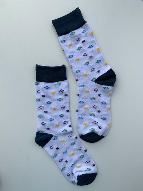 Шкарпетки білі в принт Nettle 5106903