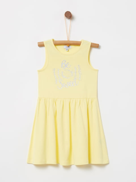 Сукня жовта з принтом Oviesse 5075223