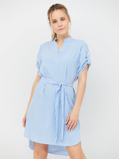 Платье голубое в полоску CRISS 5109662