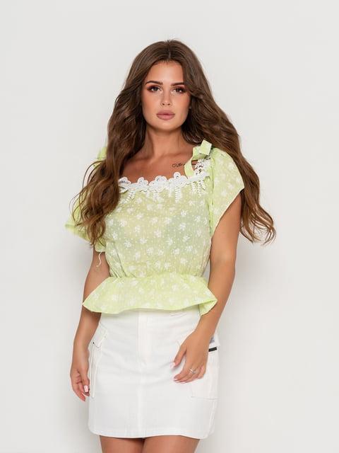 Блуза салатова Magnet 5111450
