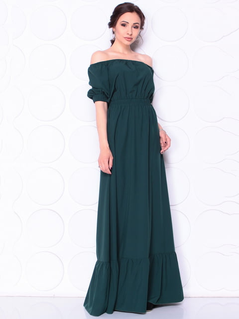 Платье темно-изумрудного цвета Laura Bettini 5111682