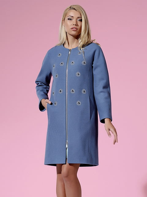 Пальто блакитне Lesya 4973643