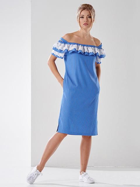 Платье голубое в полоску Lesya 4973677