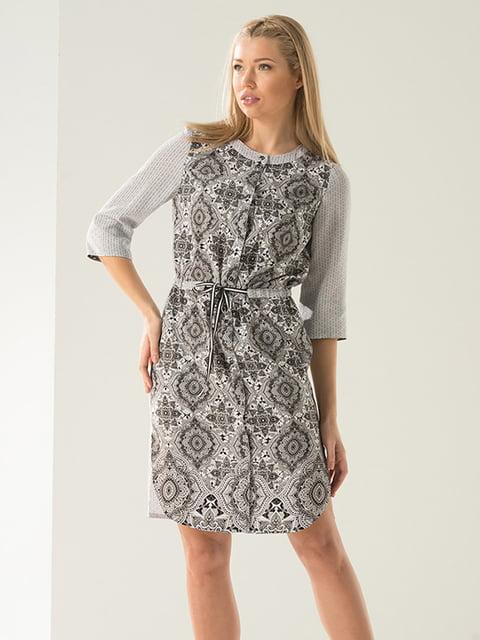 Платье серое в орнамент Lesya 4973694