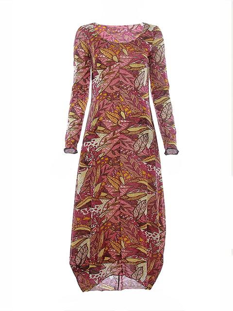 Платье розовое в принт Lesya 4973725
