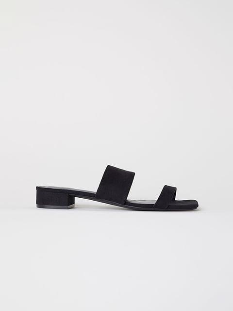 Шлепанцы черные H&M 5107619