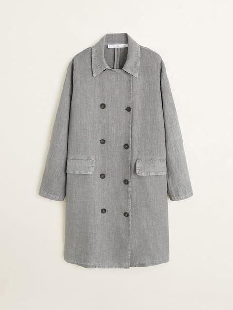 Пальто сіре Mango 5061614