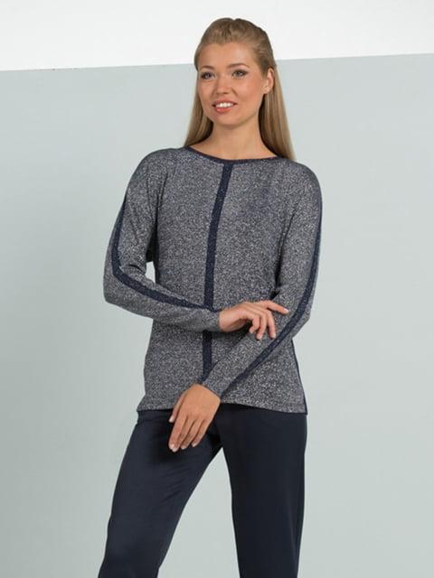 Блуза синьо-сіра Lesya 5109686