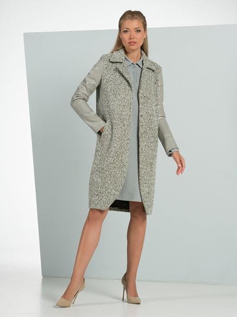 Пальто серо-зеленое Lesya 5109734