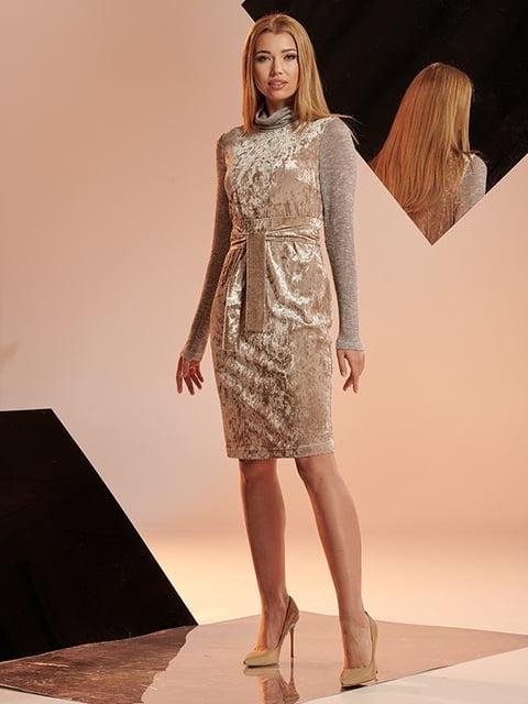 Платье бежевое Lesya 5109767