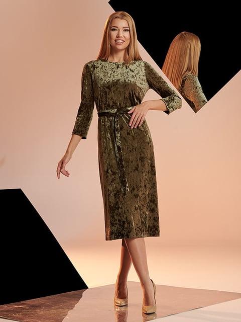 Сукня кольору хакі Lesya 5109773
