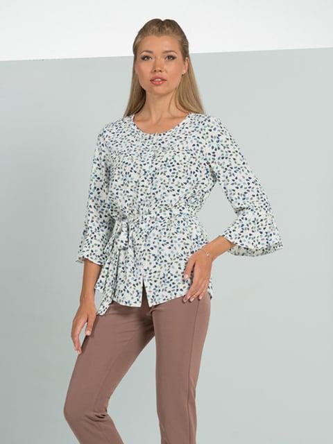 Блуза молочного кольору з принтом Lesya 5114065