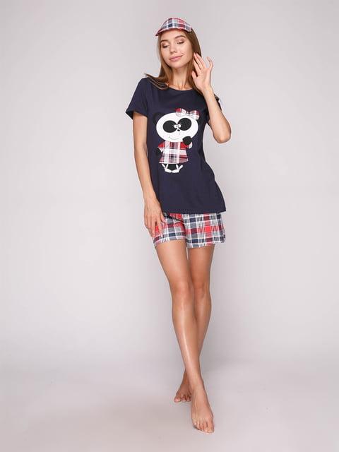 Піжама: футболка, шорти і маска для сну Strawberry 5106147