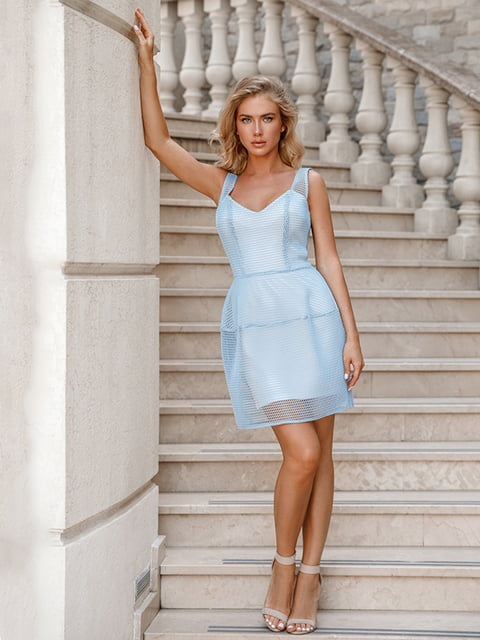 Платье голубое Gepur 5100586