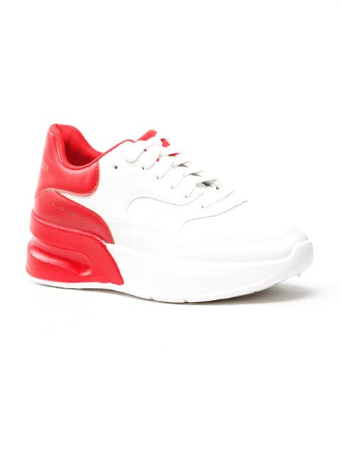 Кроссовки бело-красные Fashion 5118070