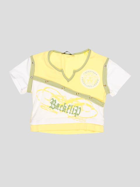 Топ желто-белый CHELA 3420599