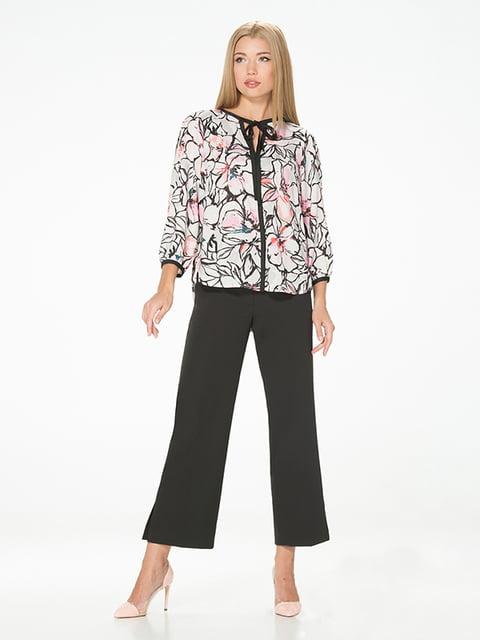 Блуза молочного цвета с цветочным принтом Lesya 5115733