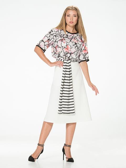 Блуза с цветочным принтом Lesya 5115737