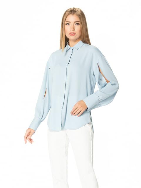 Рубашка голубая Lesya 5115738