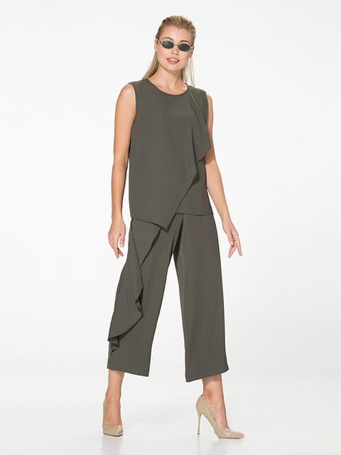 Блуза цвета хаки Lesya 5115742