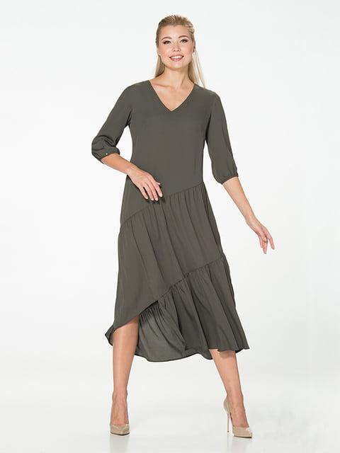 Платье цвета хаки Lesya 5115931