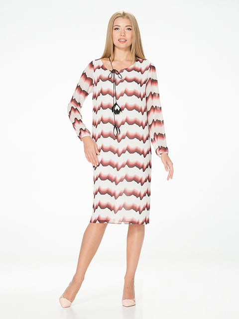 Сукня біла в смужку Lesya 5115937