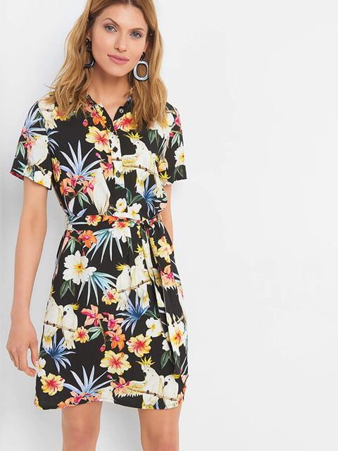 Сукня чорна з принтом Orsay 5123607